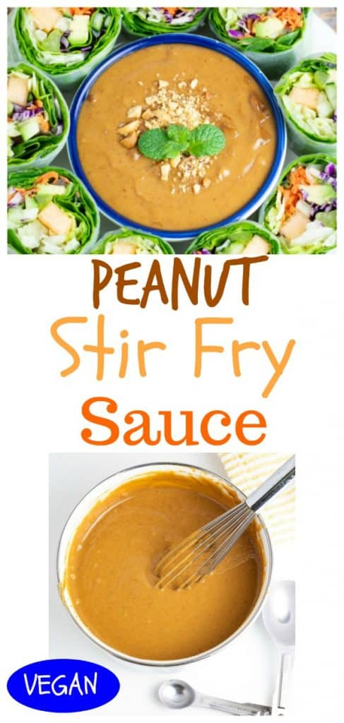peanut sauce photo collage for pinterest