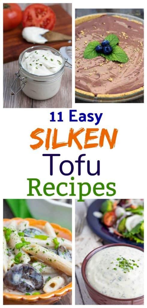 silken tofu recipe photo collage pinterest