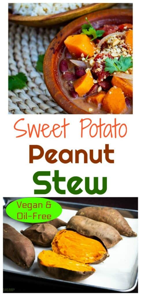 sweet potato peanut stew photo collage for pinterest