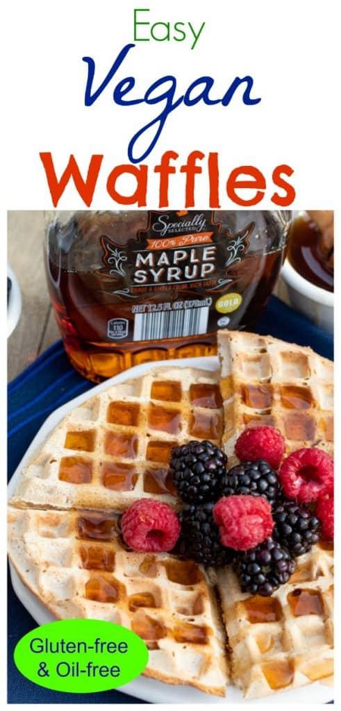 vegan waffle photo collage for pinterest