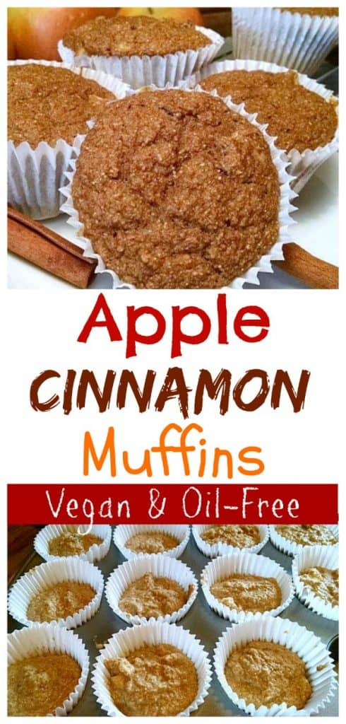 apple cinnamon muffin photo collage for pinterest