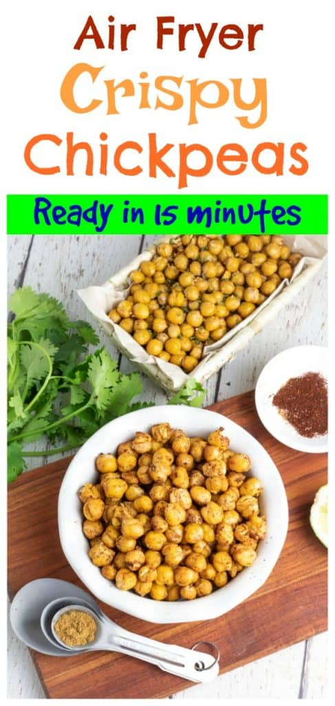roasted chickpeas photo collage for pinterest