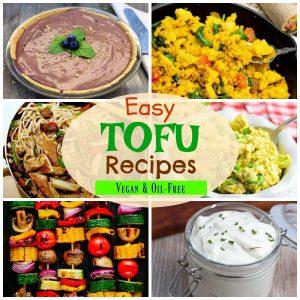 tofu recipe photo collage for pinterest