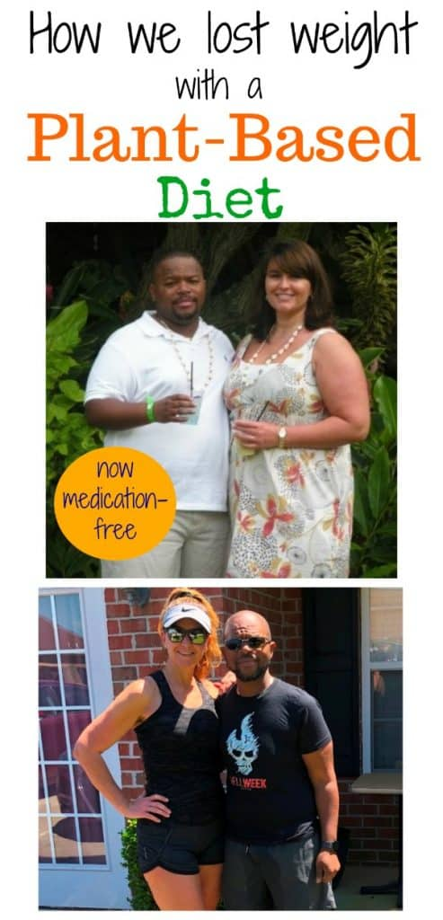 WFPB weight loss before and after photo collage for pinterest