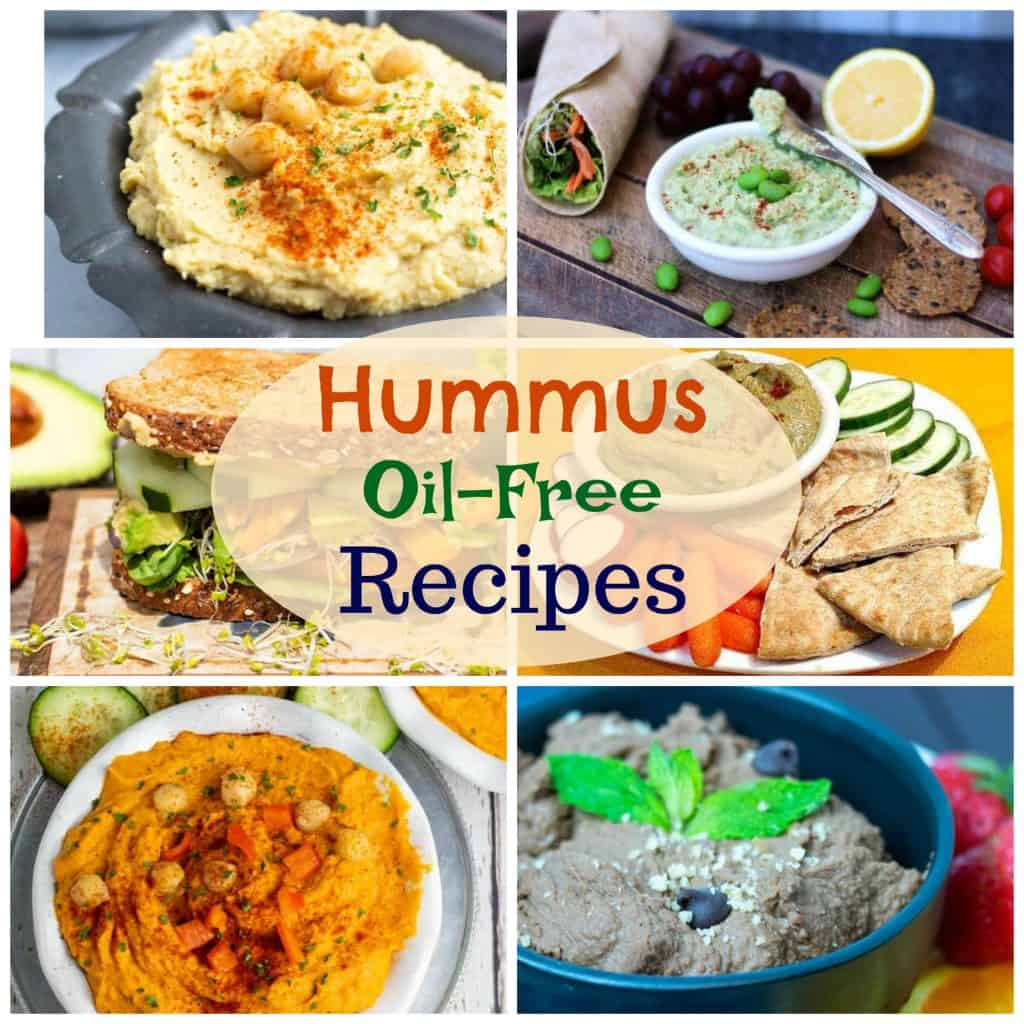 oil free hummus recipes photo collage for pinterest