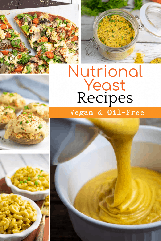 collage of nutritional yeast recipes