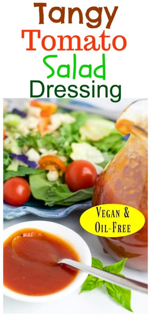oil free vegan salad dressing photo collage for pinterest