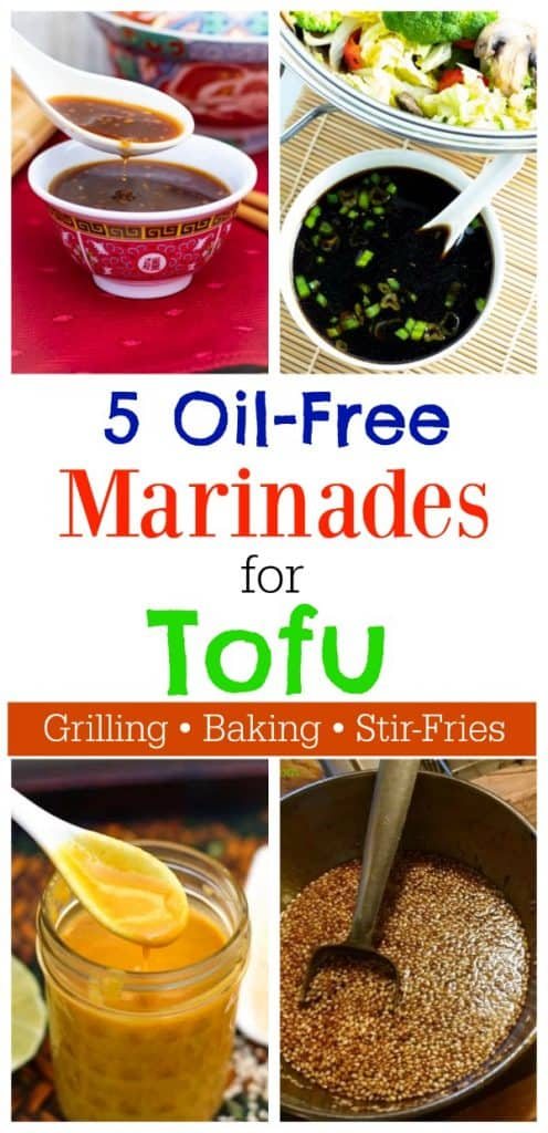 tofu marinade photo collage for pinterest