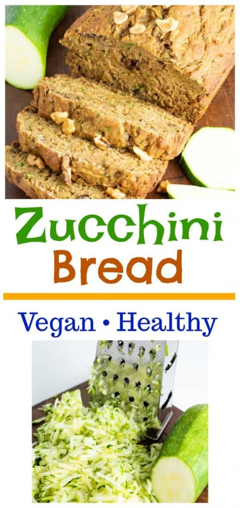 photo collage of zucchini bread for pinterest