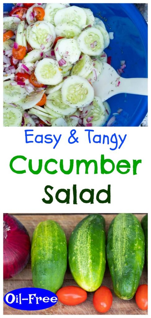 cucumber salad photo collage for pinterest