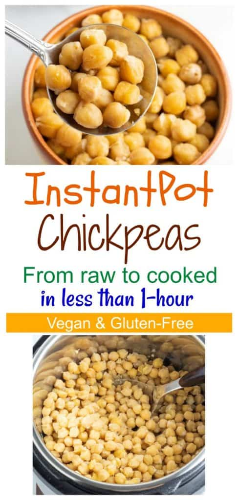 instantpot chickpeas photo collage for pinterest