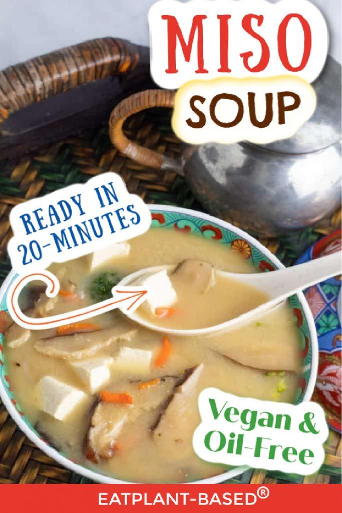 vegan miso soup photo collage for pinterest