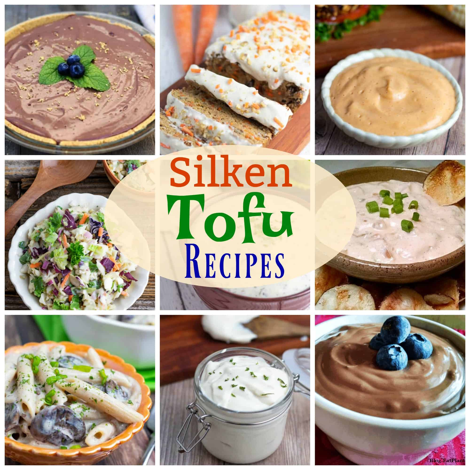 photo collage for silken tofu recipes for pinterest