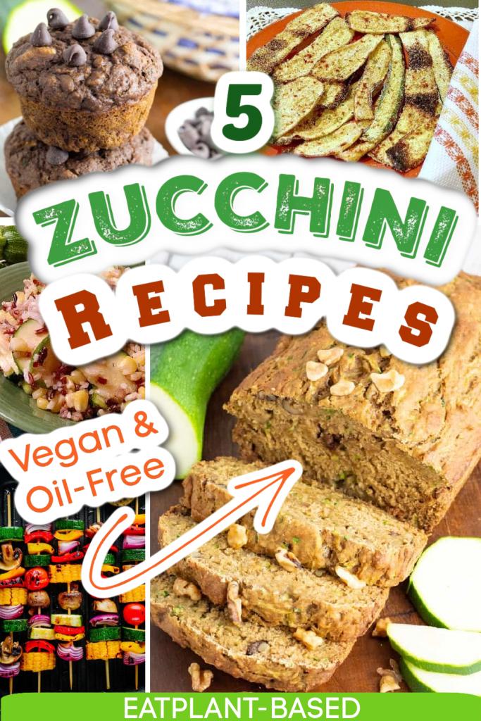 zucchini recipe photo collage for pinterest