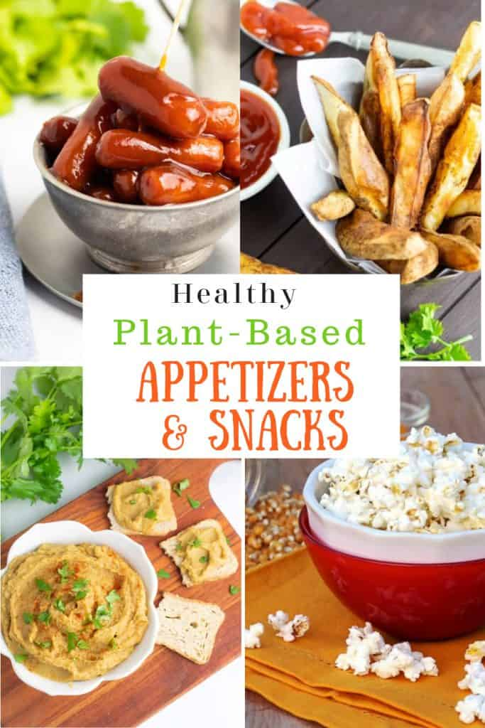 photo collage of healthy vegan snacks for pinterest
