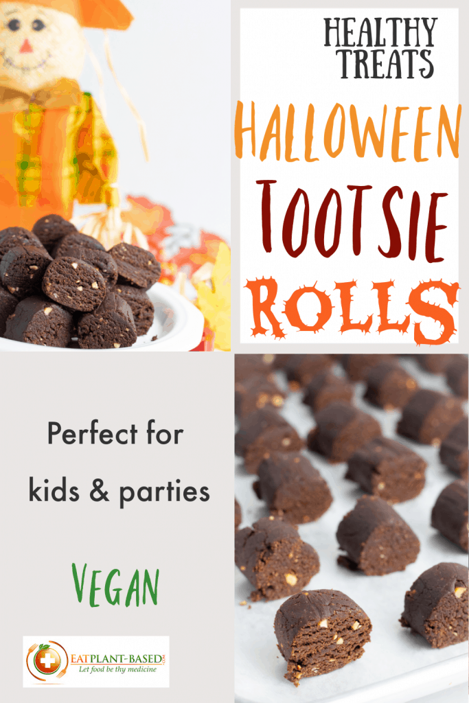 pinterest photo collage for homemade tootsie rolls for halloween