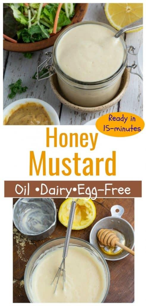 honey mustard photo collage for pinterest