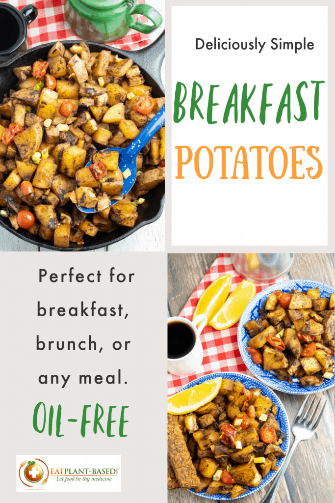 photo collage for breakfast potatoes for pinterest