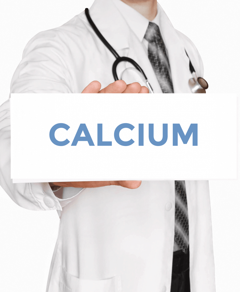 doctor holding calcium sign