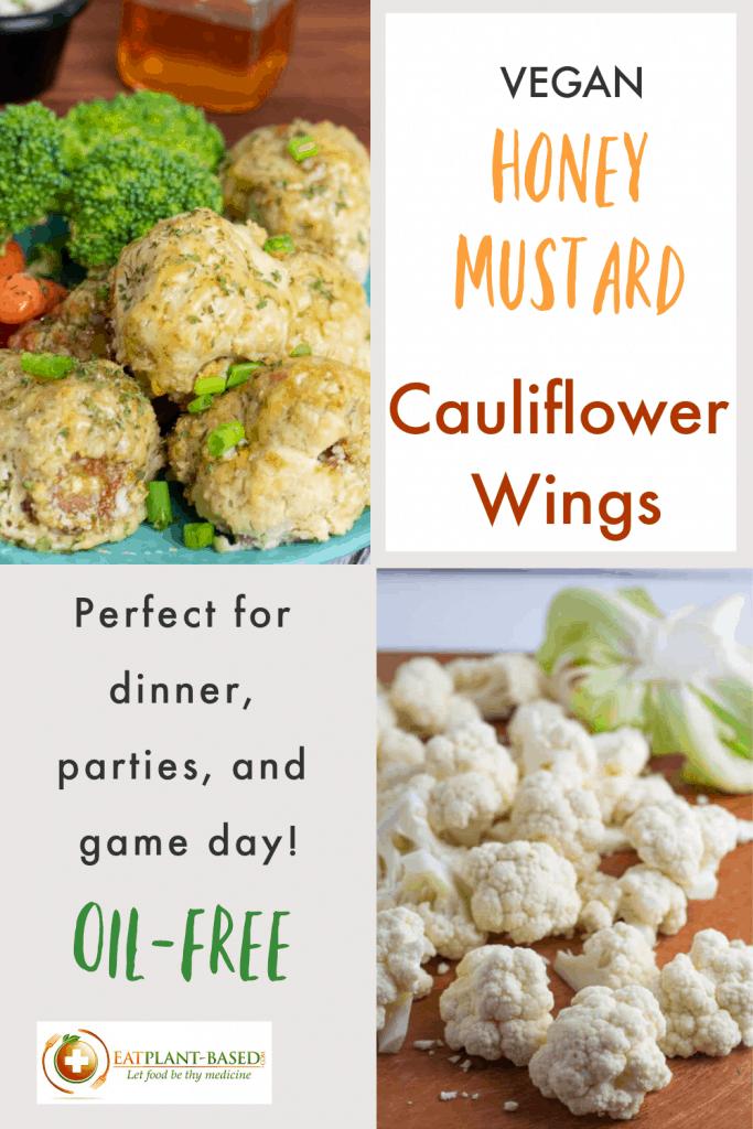 photo collage of cauliflower wings honey mustard photos for pinterest