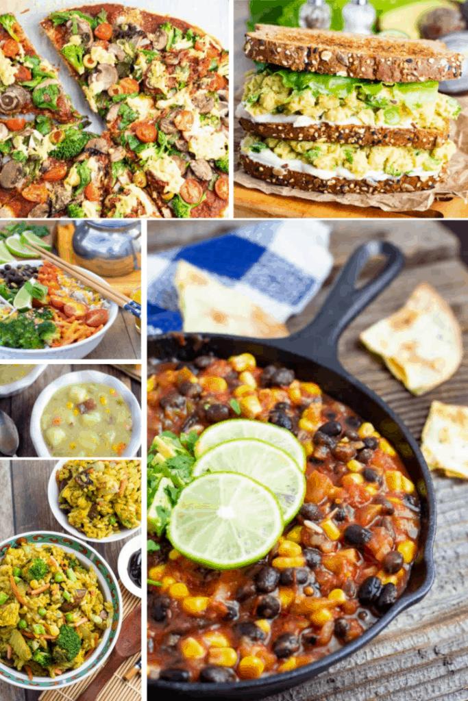 Lazy Vegan Quick Meals collage