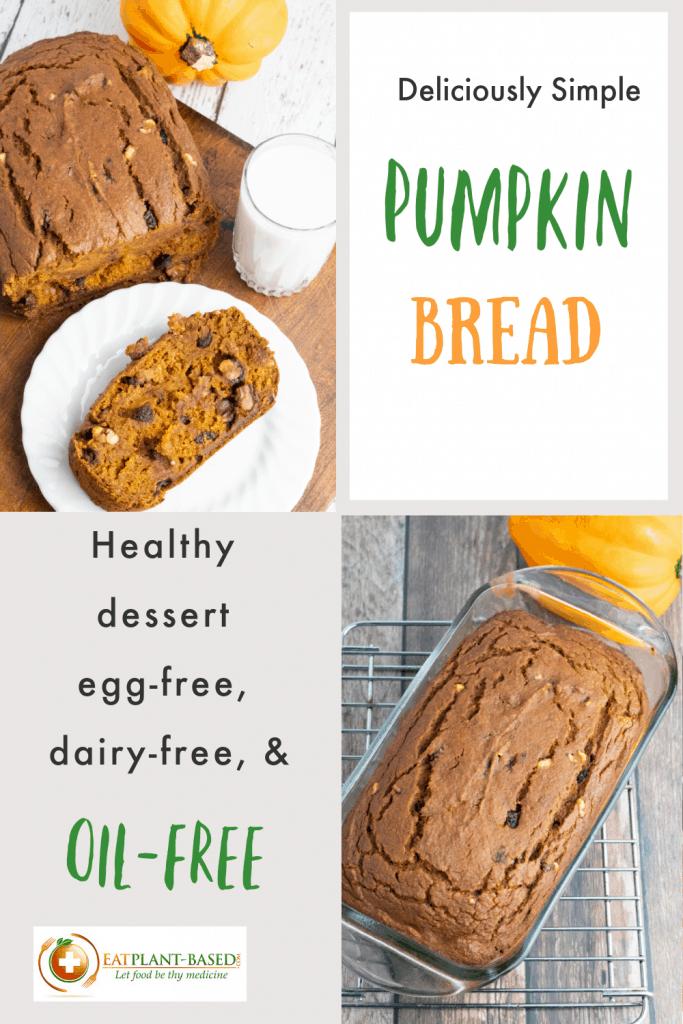 vegan pumpkin bread photo collage for pinterest
