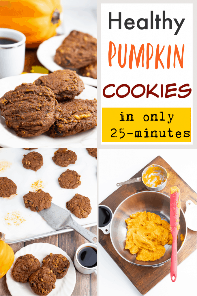 healthy pumpkin cookies photo collage for pinterest