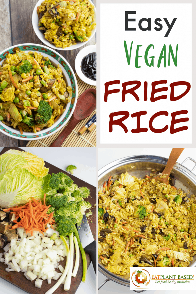 Veggie Fried Rice photo collage for pinterest