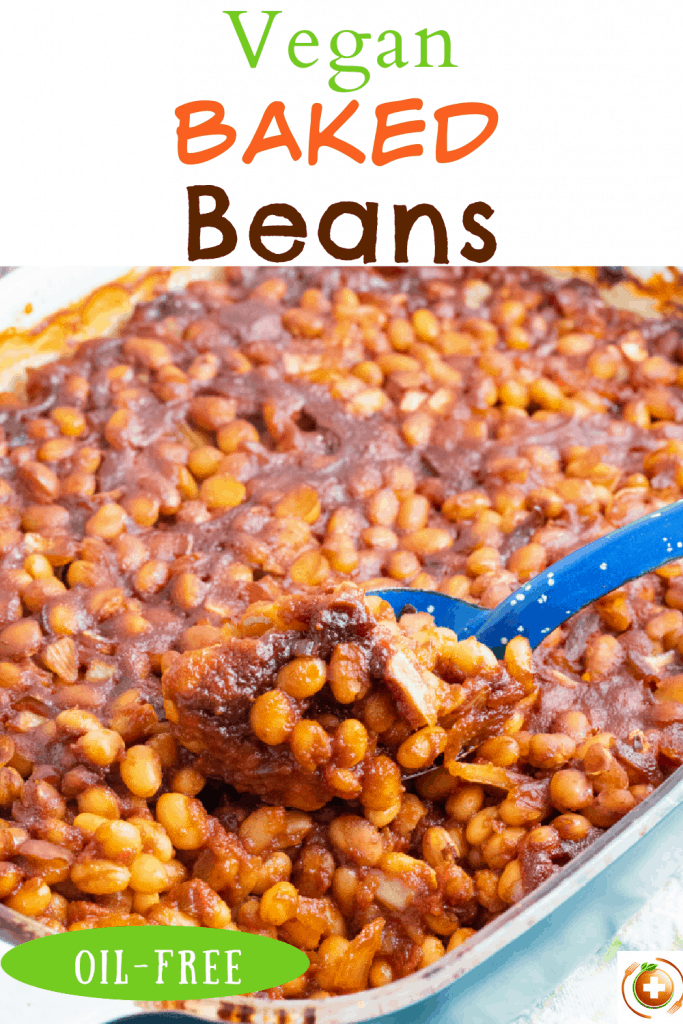 vegan baked bean photo collage for pinterest