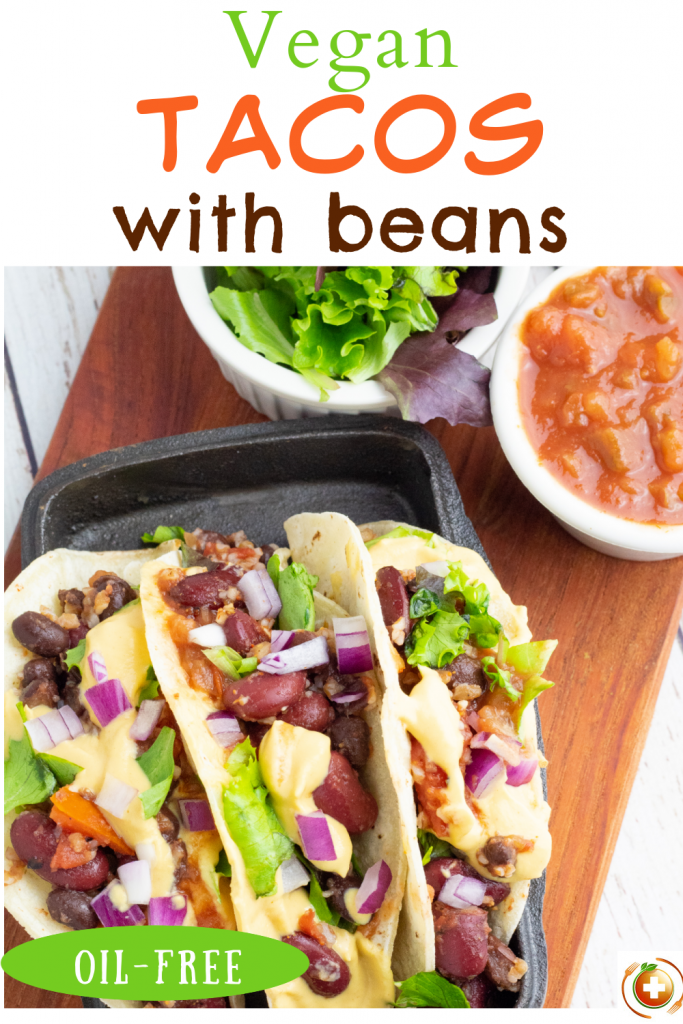 vegan taco photo collage for pinterest