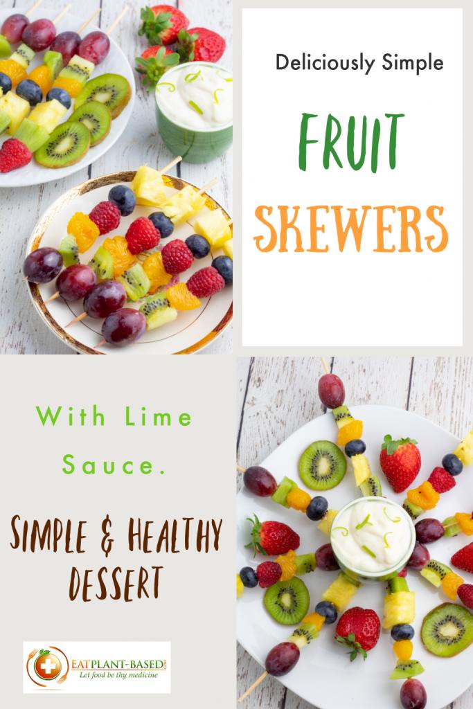 fruit skewer photo collage for pinterest