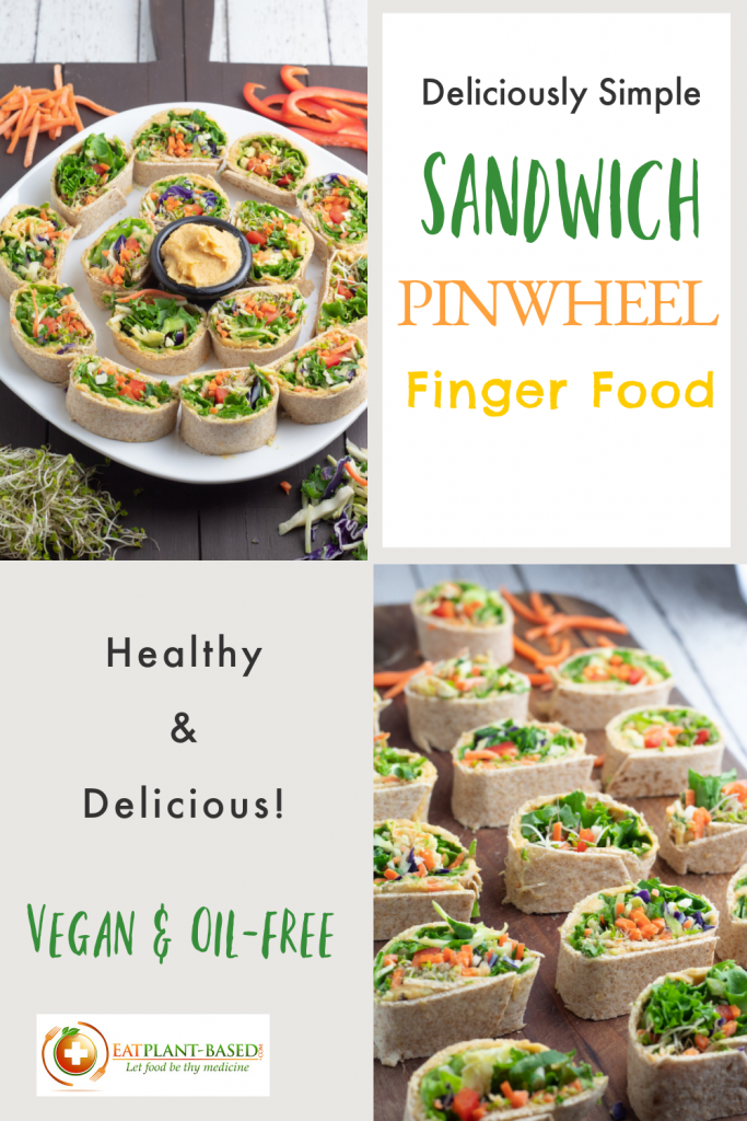 photo collage of sandwich pinwheels for pinterest