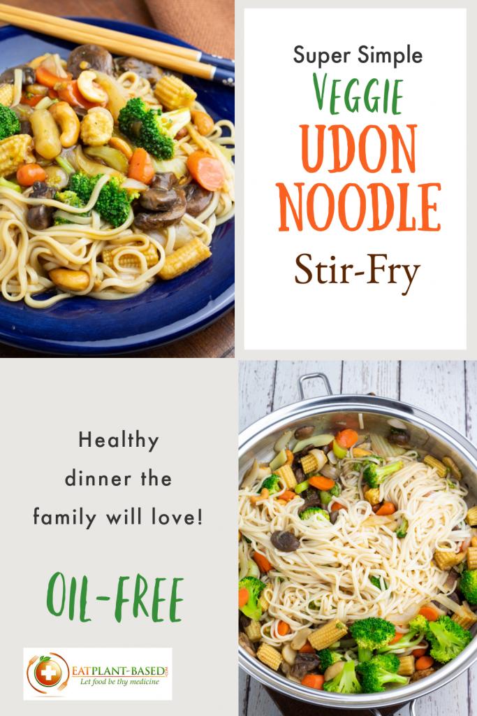 udon noodle stir fry photo collage for pinterest