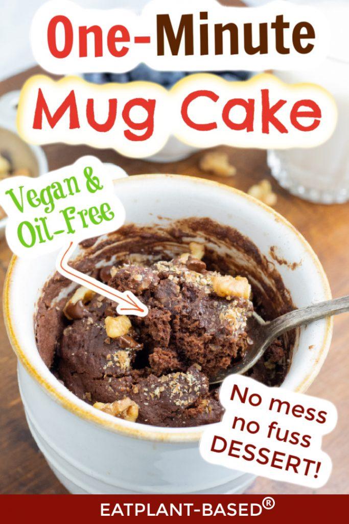 Mug Cake photo collage for pinterest