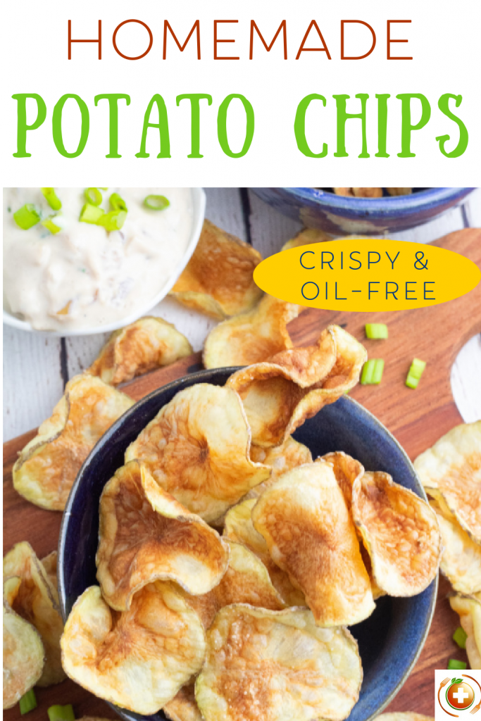 photo collage of homemade potato chips for pinterest