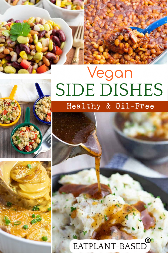 vegan side dish recipes photo collage