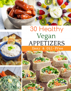 photo collage for vegan appetizers