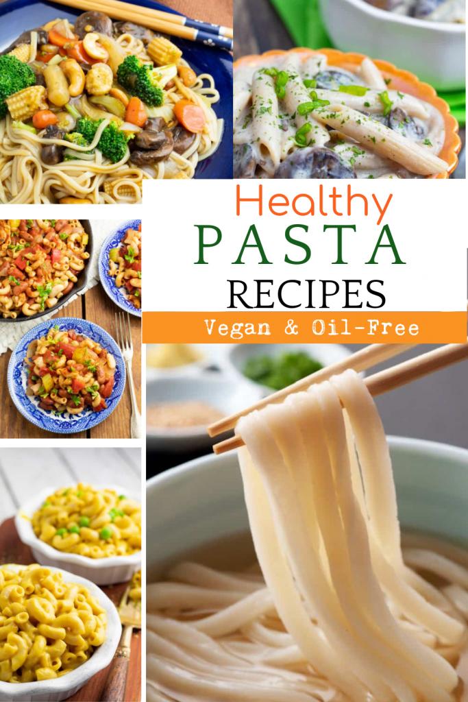 vegan pasta recipes photo collage for pinterest