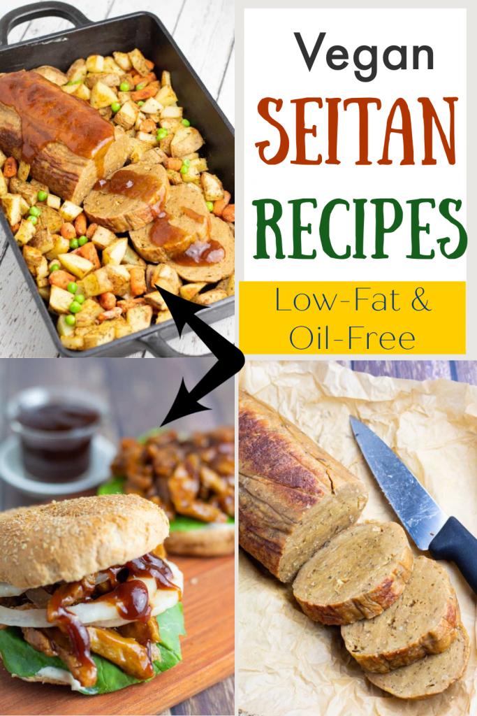 seitan recipes photo collage for pinterest
