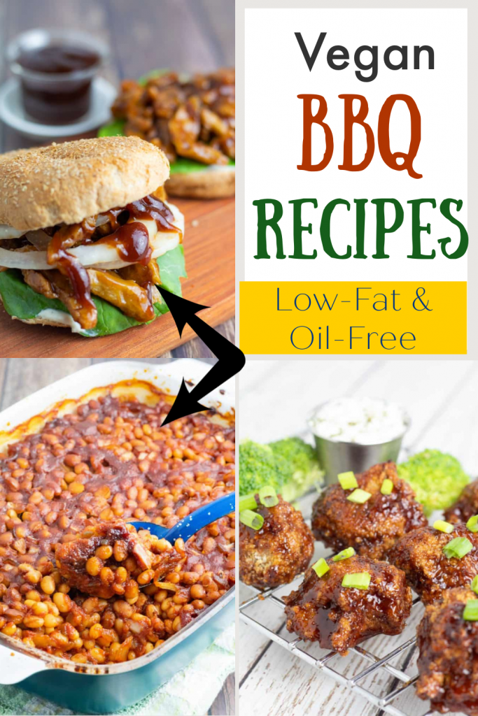 photo collage of vegan bbq recipes for pinterest