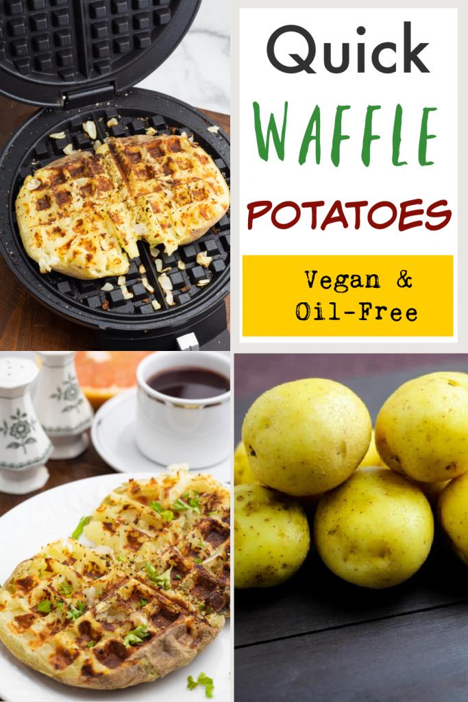 waffle potato photo collage for pinterest