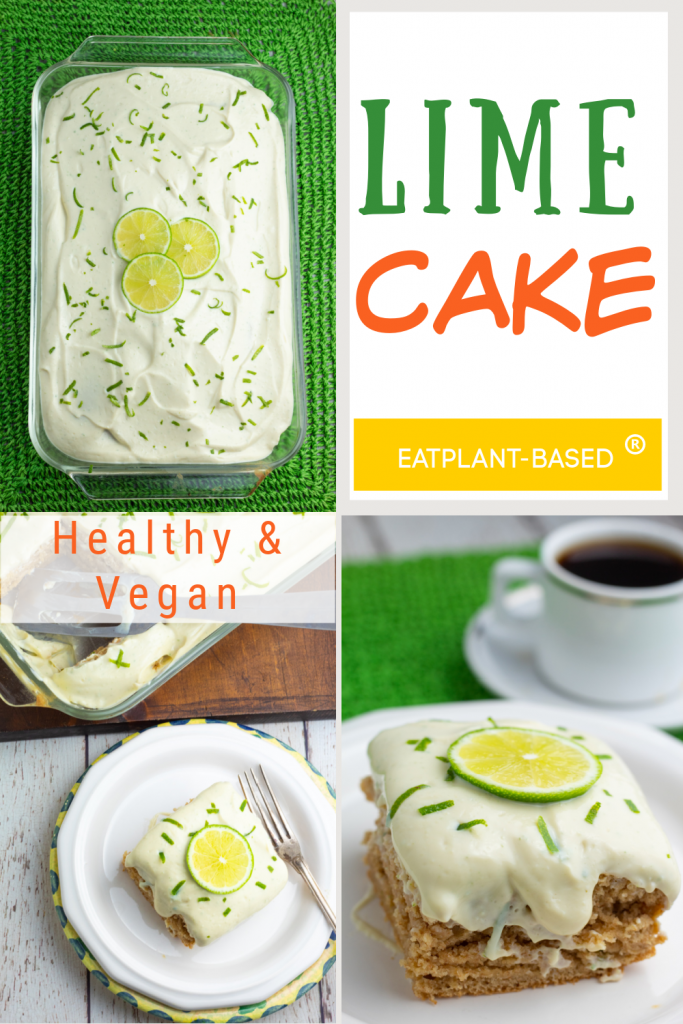 photo collage for vegan lime cake