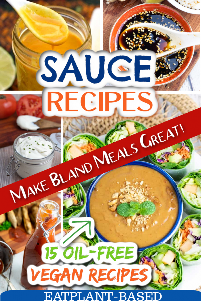 photo collage for vegan sauces
