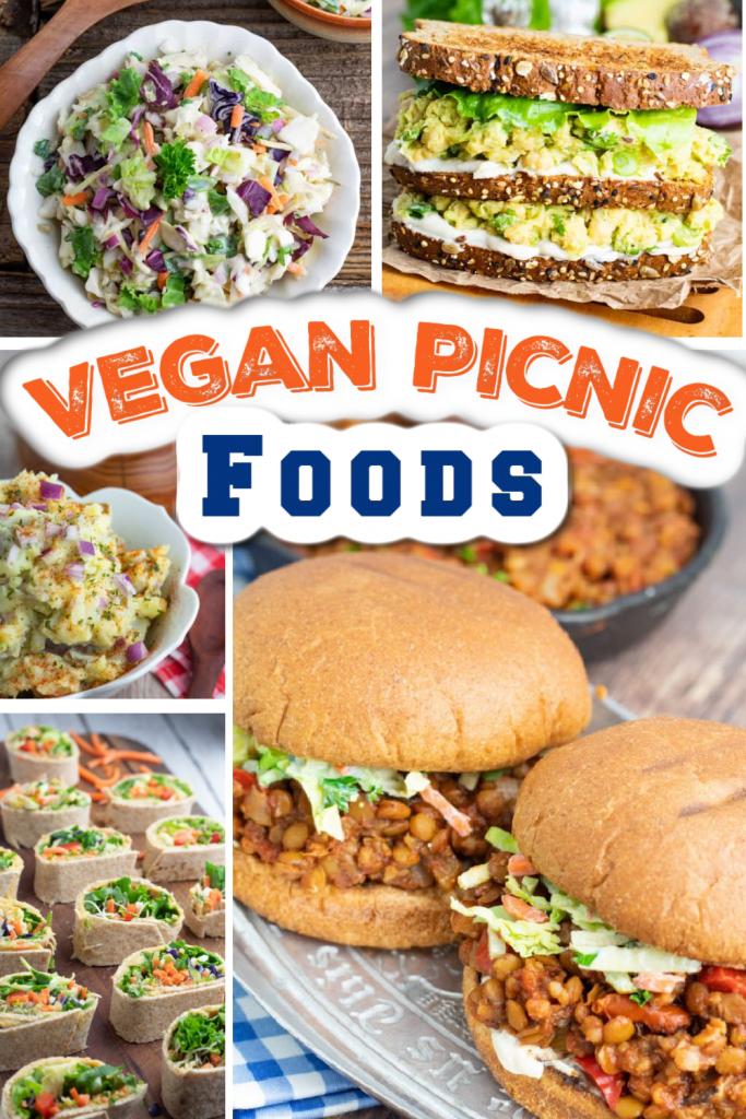 vegan picnic ideas photo collage feature