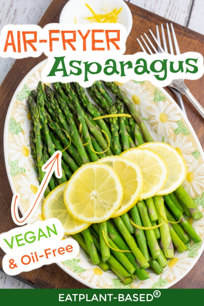air fryer asparagus photo collage for pinterest