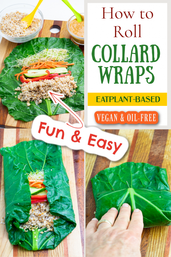 how to make vegan wraps photo collage for pinterest