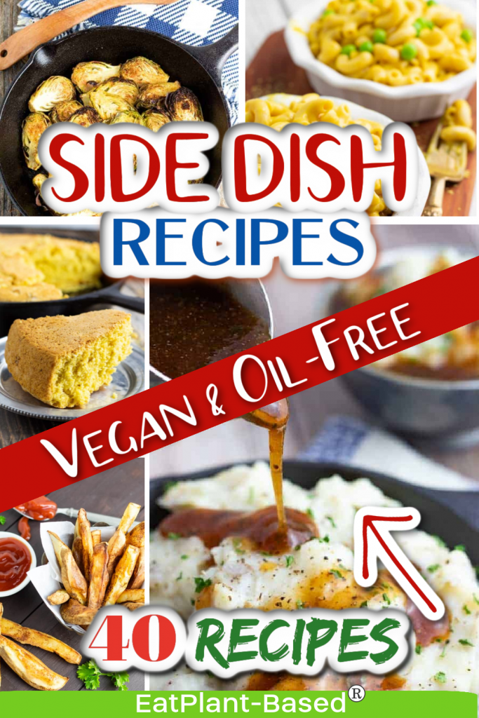 photo collage for vegan side dishes