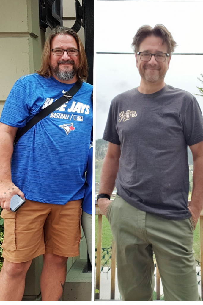 Craig Melton Before & After Side by Side WFPB Diet