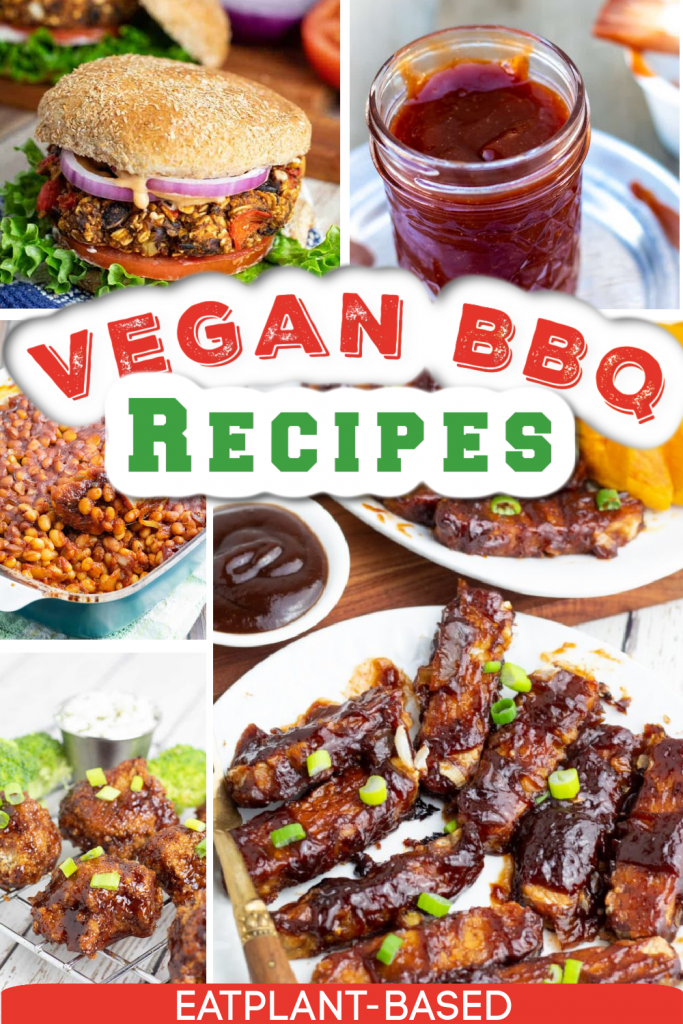 vegan bbq recipes photo collage with title