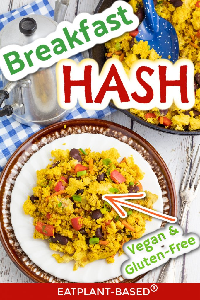 photo collage for breakfast hash for pinterest